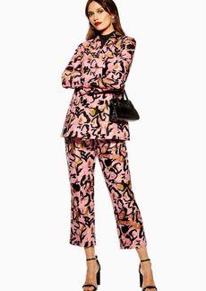 Topshop Animal Jacquard Trousers