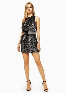 Topshop Animal Sequin Mini Dress