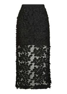 Applique Lace Midi Skirt