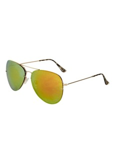 Arnie Rimless Aviator Sunglasses
