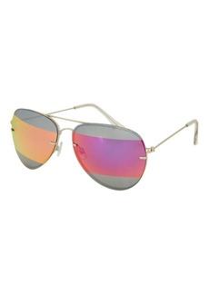 Topshop Arnie Stripe Lens Aviator Sunglasses