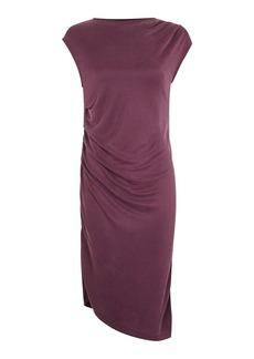 Topshop Asymmetric Drape Midi Dress