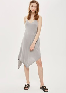 Asymmetric Hem Slip Dress