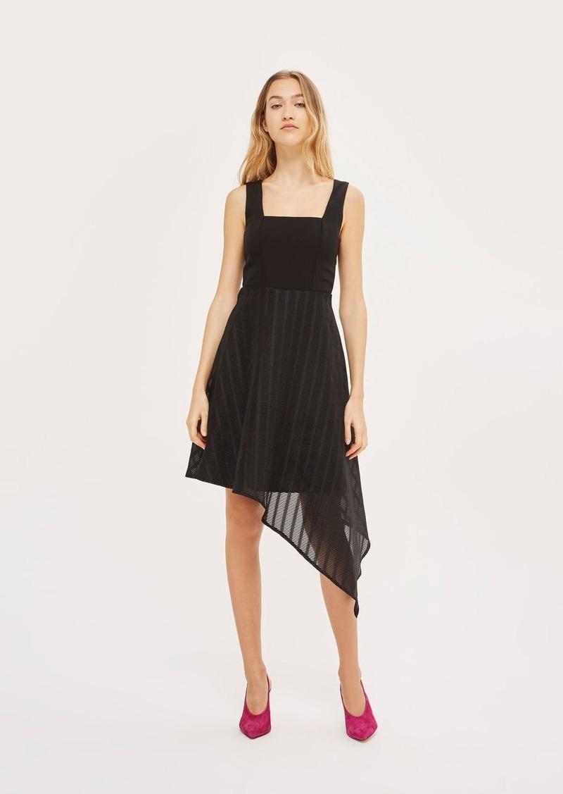 cab1e11102b Topshop Black And White Pinafore Dress