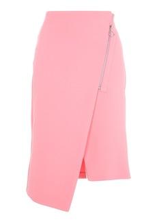 Asymmetric Zip Midi Skirt