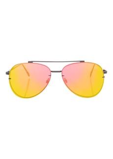 Topshop Attitude Flat Lens Black Sunglasses