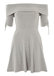 Bardot Ruched Mini Dress