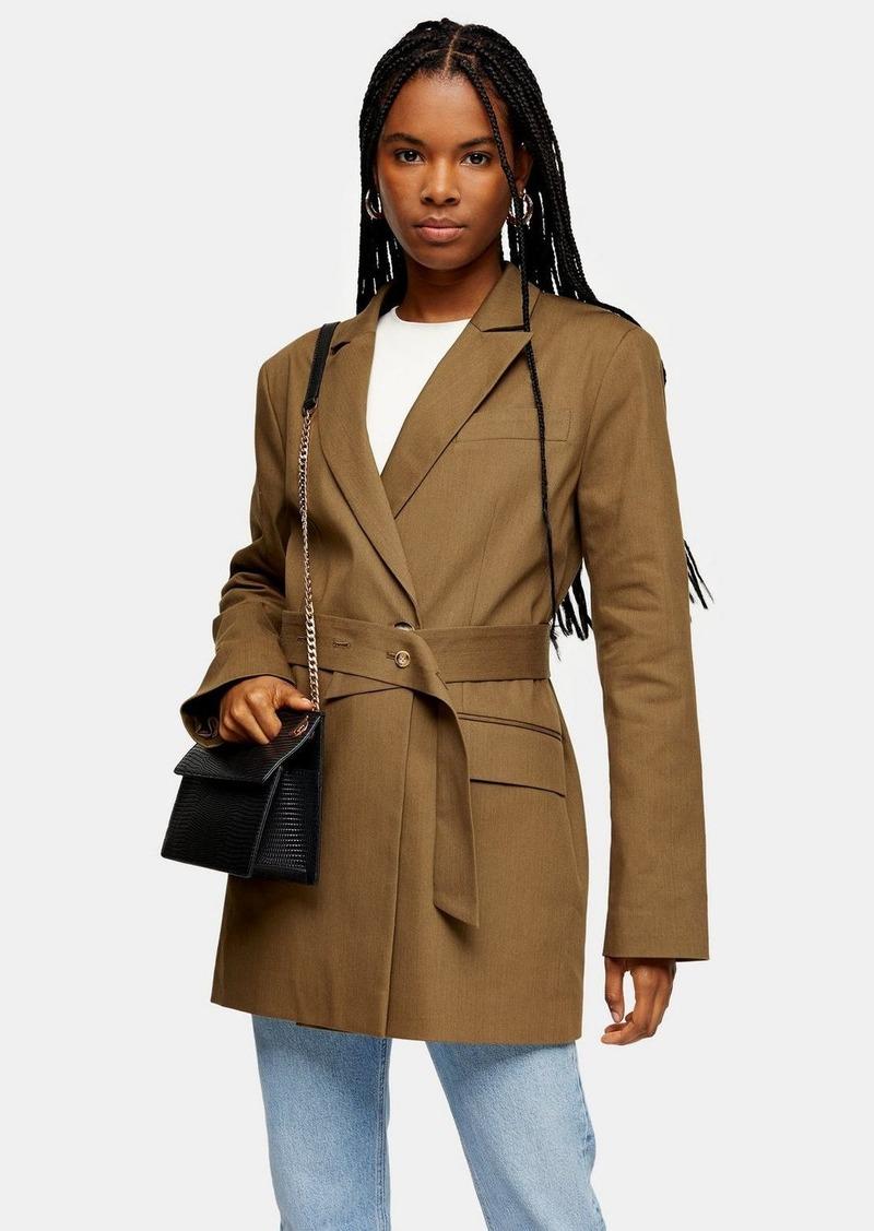 Clothing /Jackets Coats /Belted Oversize Blazer