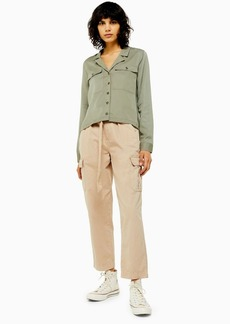 Topshop Stone Belted Utility Pants