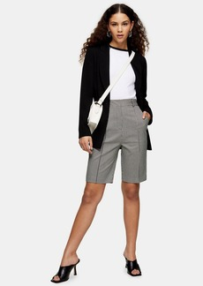 Topshop Clothing /Shorts /Black And White Houndstooth Bermuda Shorts