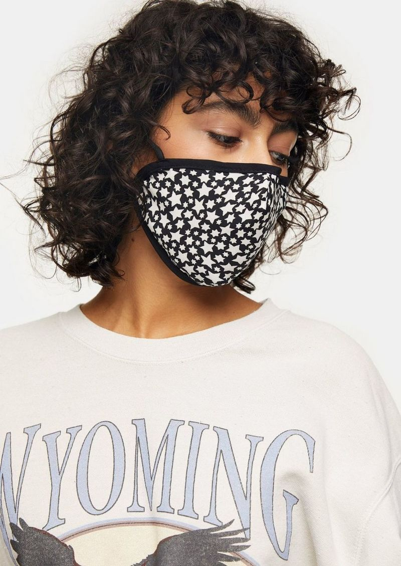 Topshop Clothing /New Semester /Black And White Star Print Fashion Face Mask