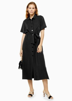 Topshop Black Shirt Dress