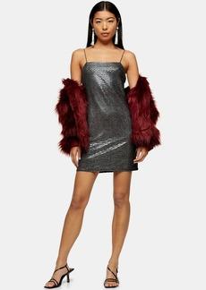 Topshop Black Snake Foil Bodycon Dress