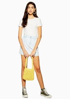 Topshop Bleach Utility Denim Skirt