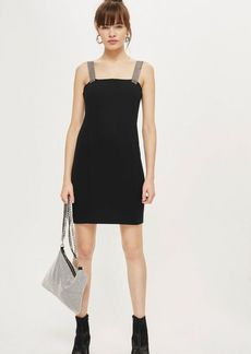 Topshop Bling Strap Mini Bodycon Dress