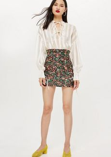 Topshop Bloom Jacquard Skirt
