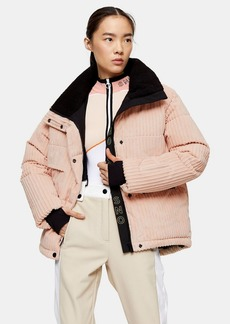 Blush Corduroy Ski Jacket By Topshop Sno