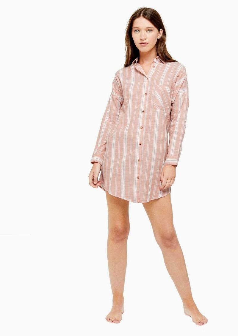 Topshop Blush Stripe Sleep Pyjama Shirt
