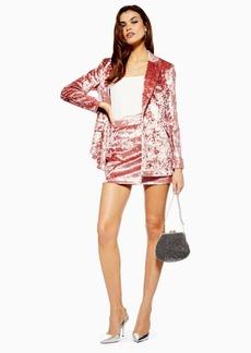Topshop Bonded Velvet Skirt