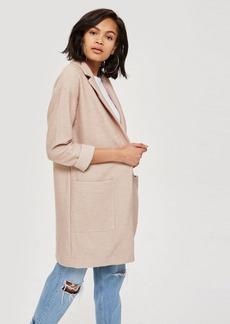 Topshop Boucle Jersey Coat