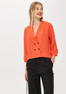Topshop Boxy Collared Blouse
