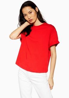 Topshop Boxy Roll T Shirt