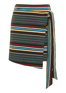 Bright Stripe Wrap Skirt