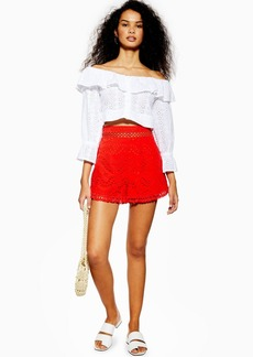 Topshop Broderie Anglaise Shorts