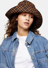Topshop Bags Accessories /Hats /Brown Mini Check Wide Bucket Hat
