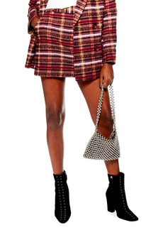 Topshop Brushed Check Miniskirt