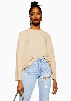 Topshop Brushed Ribbed Cut And Sew Top