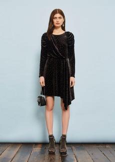Topshop Burnout Spot Velvet Dress