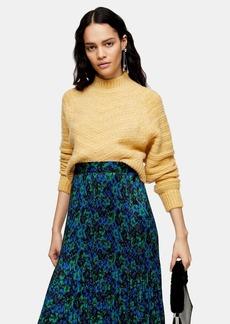 Topshop Buttermilk Chevron Super Crop Sweater