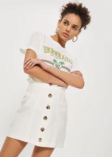 Topshop Button Through Mini Skirt