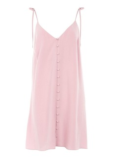 Button Through Mini Slip Dress