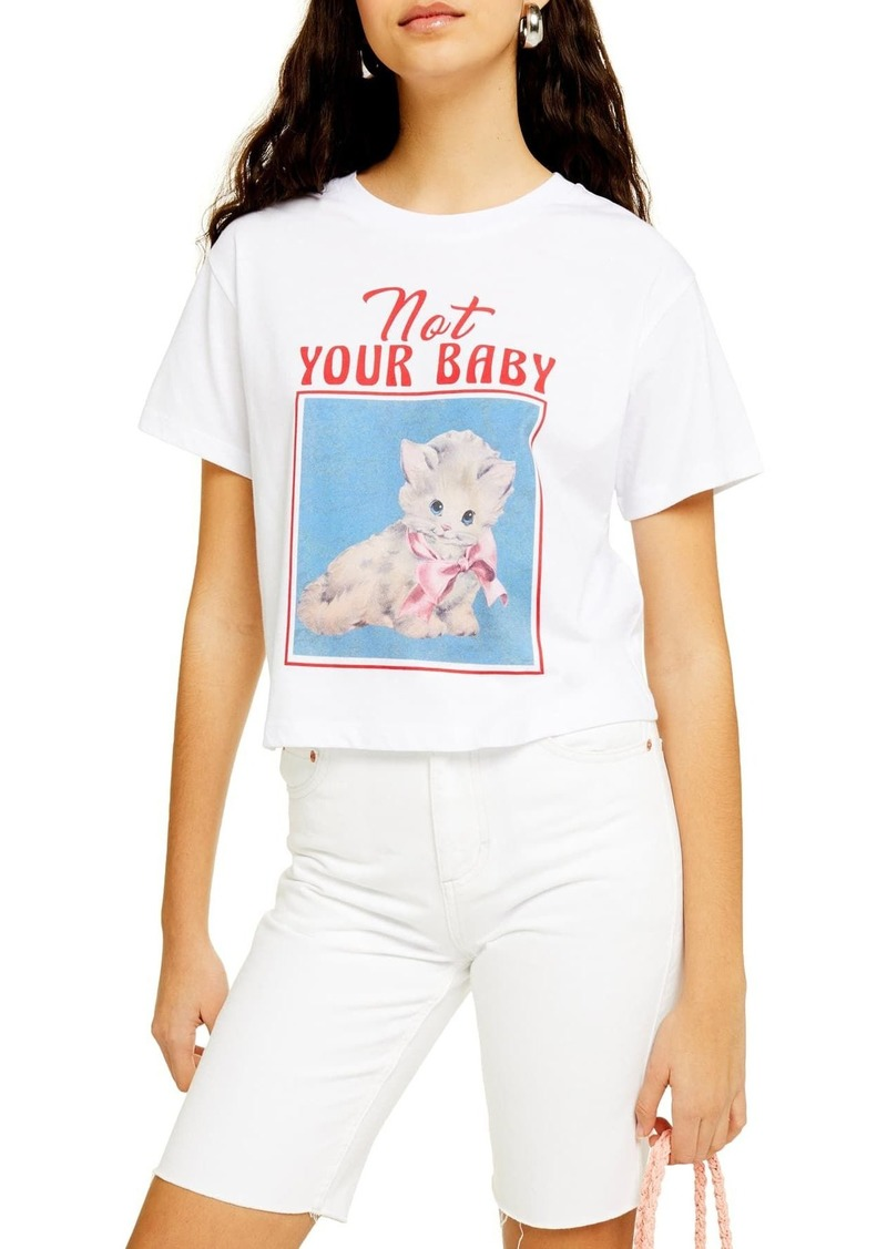 Topshop Not Your Baby Graphic T-Shirt