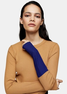 Topshop Camel Ribbed Top By Boutique