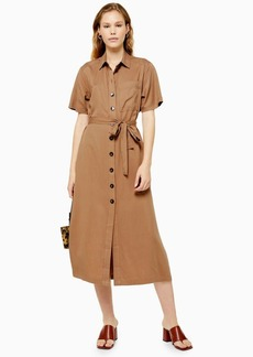 Topshop Camel Shirt Dress