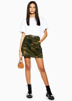 Topshop Camouflage Belt Skirt