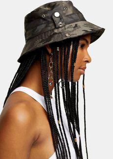 Topshop Camouflage Popper Bucket Hat