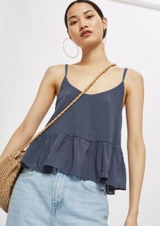 Topshop Casual Peplum Camisole Top