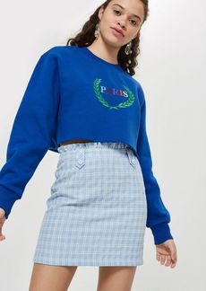 Check Boucle Frill Mini Skirt