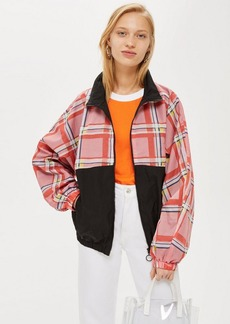 Topshop Check Windbreaker Jacket
