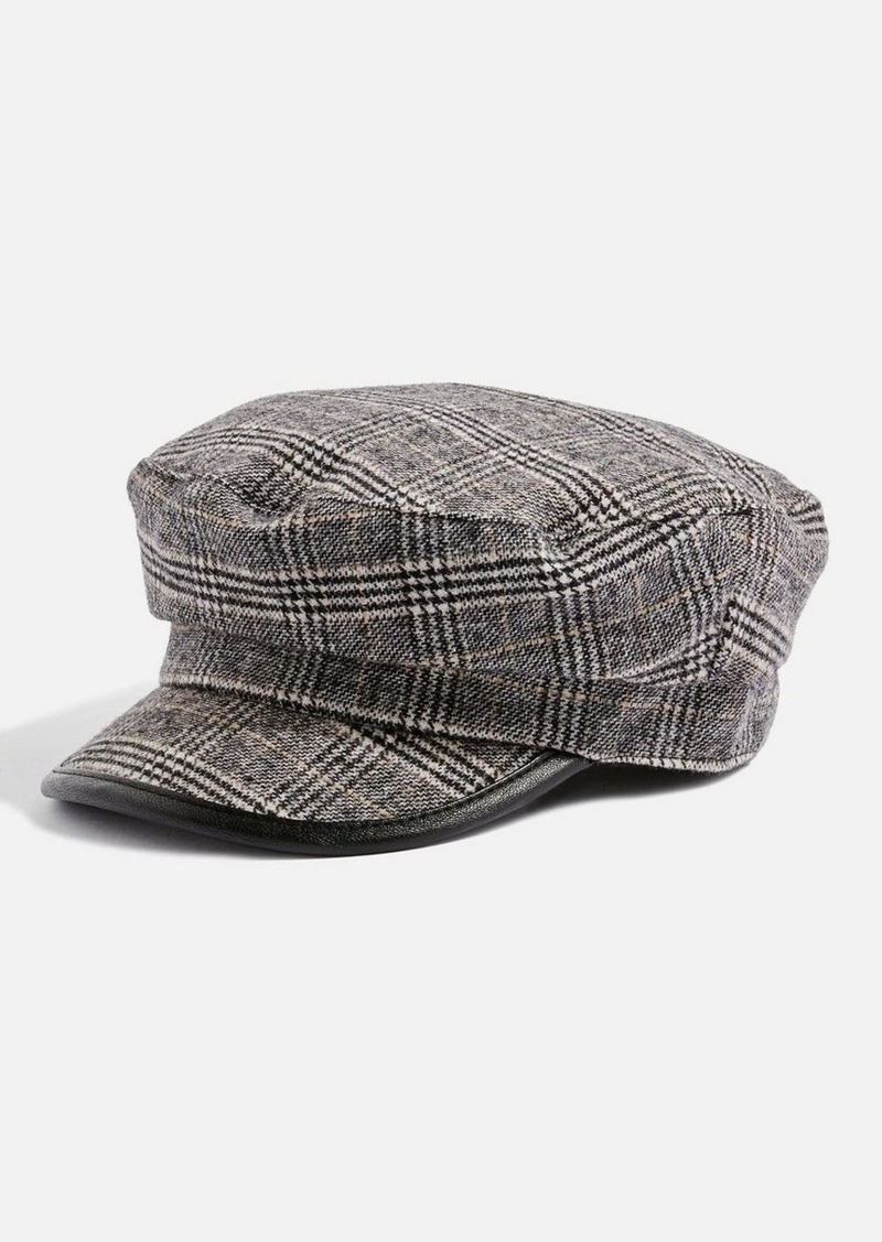 36fc33a02ca Topshop Checked Baker Boy Hat