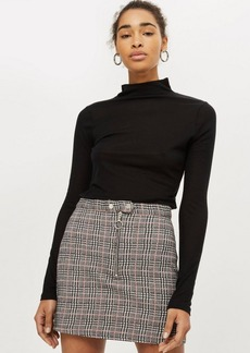 Topshop Checked Mini Skirt