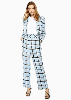 Topshop Checked Slouch Trousers