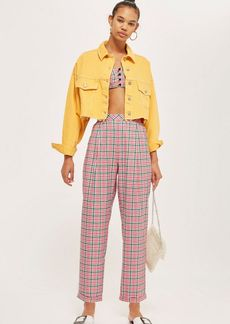 Topshop Checked Tapered Trousers