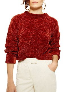 Topshop Chenille Cable Sweater