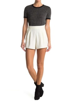 Topshop Cherry Flip Pleated Woven Shorts