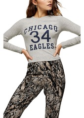 Topshop Chicago Eagles Long Sleeve Graphic Tee
